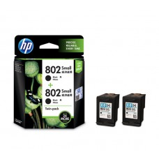 HP 802 2-pack Small Black Original Ink Cartridges (HP Part Code: L0S21AA)